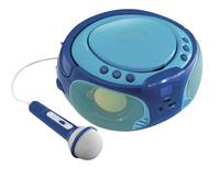 Lenco radio/lecteur CD portable SCD 650 bleu