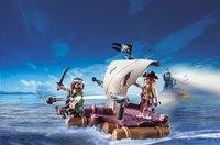 Playmobil Pirates 6682 Radeau avec Pirates des ténèbres-Image 1
