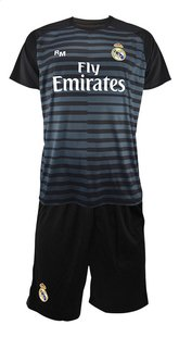 Tenue de football Real Madrid Thibaut Courtois noir taille 116-Avant