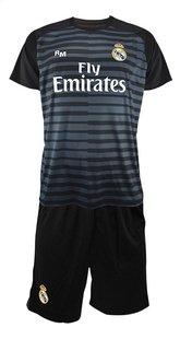 Voetbaloutfit Real Madrid Thibaut Courtois zwart metaal maat 116-Vooraanzicht