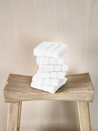 De Witte Lietaer Serviette d'hôtel Dolce white 30 x 50 cm - 6 pièces-Image 1