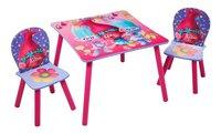 Table avec 2 chaises pour enfants Trolls-Avant
