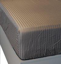 Sleepnight Drap-housse Satinada anthracite satin de coton avec lignes verticales 160 x 200 cm-Détail de l'article