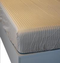 Sleepnight Drap-housse Satinada taupe satin de coton avec lignes verticales 160 x 200 cm-Détail de l'article