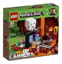 LEGO Minecraft 21143 Het Onderwereldportaal-Linkerzijde