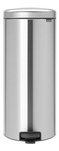 Brabantia Poubelle à pédale NewIcon matt steel 30 l