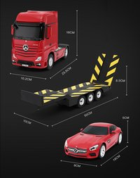 Rastar voitures RC Mercedes Actros + AMG GT rouge-Détail de l'article