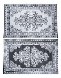 Esschert Buitentapijt Perzisch motief 186 x 120 cm zwart/wit