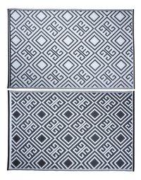 Esschert Buitentapijt 186 x 120 cm zwart/wit