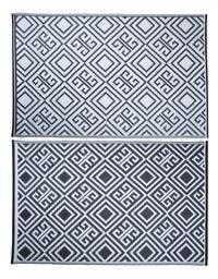 Esschert Tapis de jardin 186 x 120 cm noir/blanc