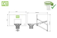 EXIT Basketbalbord Galaxy Wall-Mount-Artikeldetail