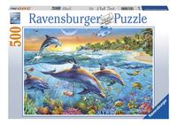 Ravensburger puzzel Dolfijnenbaai-Vooraanzicht