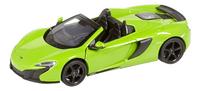 DreamLand voiture Showroom de luxe McLaren 650S Spider vert-Avant