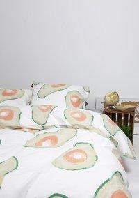 Gaaf Dekbedovertrek Avocado katoen/polykatoen-Afbeelding 2