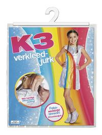 Verkleedpak K3 regenboogkleedje maat 116