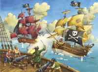 Ravensburger puzzel Piratenslag-Vooraanzicht