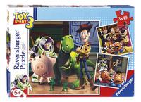 Ravensburger puzzel 3-in-1 Toy Story 3: Woody & Rex-Vooraanzicht