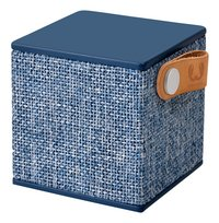 Fresh 'n Rebel luidspreker bluetooth Rockbox Cube Fabriq Edition blauw-Linkerzijde