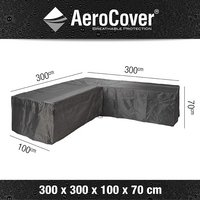 AeroCover Beschermhoes voor loungeset met L-vorm polyester L 300 x B 300 x H 70 cm-Artikeldetail