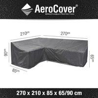 AeroCover Housse de protection pour ensemble lounge en forme de L gauche polyester L 270 x Lg 85 x H 90 cm-Détail de l'article