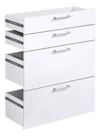 4 tiroirs pour bibliothèque Calvia 7 et 8-Côté gauche
