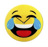 Wandklok Smiley Emoji tranen