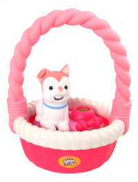 Little Live Pets Sweet Talkin' Puppy with basket rose-Avant