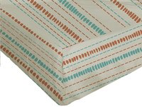 Origin Drap-housse Ninon orange/ivoire bambou/coton 180 x 200 cm