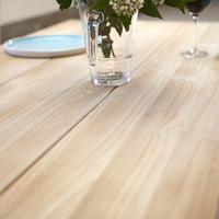 Table de jardin Soho teck/blanc L 240 x Lg 100 cm-Image 2