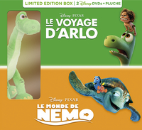 DVD Le Voyage d'Arlo + Le Monde de Nemo + peluche