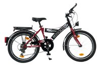 Citybike 20' rouge/noir