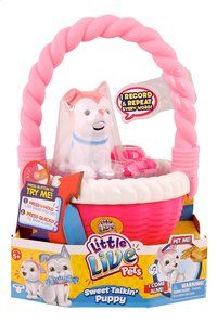 Little Live Pets Sweet Talkin' Puppy with basket roze