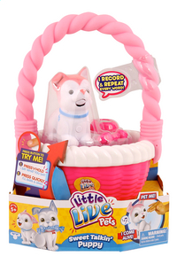 Little Live Pets Sweet Talkin' Puppy with basket rose