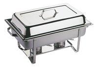 APS Récipient bain-marie Chafing Dish L 61 x Lg 36 cm-Côté gauche