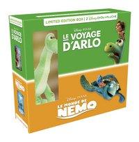 Dvd Le Voyage d'Arlo + Le Monde de Nemo + pluche FR-Linkerzijde
