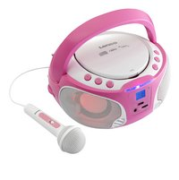 Lenco draagbare radio/cd-speler SCD 650 roze-Vooraanzicht