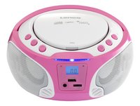 Lenco radio/lecteur CD portable SCD 650 rose