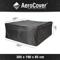 AeroCover Beschermhoes voor rechthoekige tuinset polyester L 305 x B 190 x H 85 cm-Artikeldetail