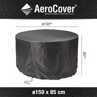 AeroCover Beschermhoes voor tuinset rond polyester 150 x 85 cm-Artikeldetail