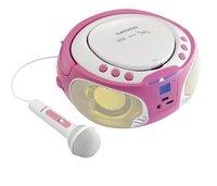 Lenco draagbare radio/cd-speler SCD 650 roze-Afbeelding 1