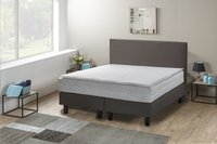 Boxspring fixe Farao aspect cuir taupe 140 x 200 cm-Image 3