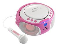 Lenco draagbare radio/cd-speler SCD 650 roze-Afbeelding 2