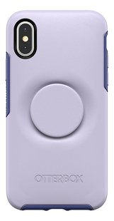 Otterbox Cover Otter + Pop Symmetry Series Case voor iPhone X/Xs Lilac Dusk-Achteraanzicht
