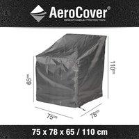 AeroCover Housse de protection pour fauteuil de jardin lounge polyester L 75 x Lg 78 x H 110 cm-Détail de l'article