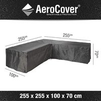 AeroCover Housse de protection pour ensemble lounge en forme de L polyester L 255 x Lg 255 x H 70 cm-Détail de l'article