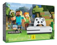 XBOX One S 500 GB + Minecraft-Linkerzijde