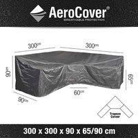 AeroCover Housse de protection pour ensemble lounge en forme de L trapèze et dossier haut polyester L 300 x Lg 90 x H 90 cm-D
