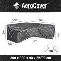 AeroCover Beschermhoes voor loungeset Trapeze L-vorm en hoge rugleuning polyester L 300 x B 90 x H 90 cm-Artikeldetail