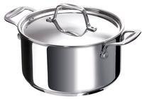 Cette casserole Chef 18 cm de Beka Cookware, en acier inoxydable, possède un fond « sandwich » encapsulé de 6,2 mm.