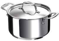 Beka Cookware Chef kookpot 20 cm van roestvrij staal met een ingekapselde sandwichbodem van 6,2 mm.